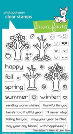 Lawn Fawn- clear stempel- Tree Before 'n Afters-LF2018