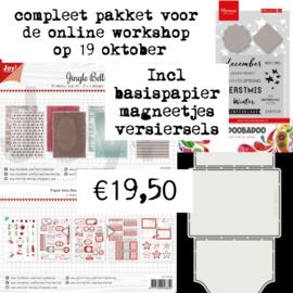 Totaal pakket voor de workshop - 19 oktober