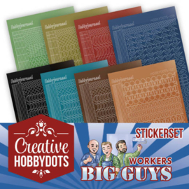 Yvonne creations- creative hobbydots stickerset - Big Guys- CHSTS002