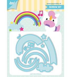 Joy!Crafts 6002/1195 Snij-stencils - Tumble Friends - Rainbow-sky