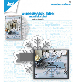 Joy!Crafts - stans en embosmal - sneeuwvlok label - 6002/1532