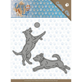 Amy Design- Dogs life- snijmal - spelende honden- ADD10190