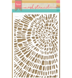 Marianne Design - Stencil - Tiny's Sliced Wood - PS8040