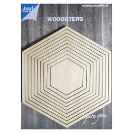 Joy!crafts - Woodsters - Deco- schudkaart hexagon