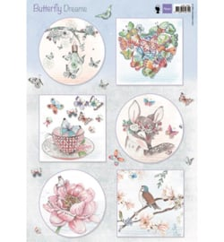 Marianne Design EWK1267 Knipvel A4 Butterfly Dreams