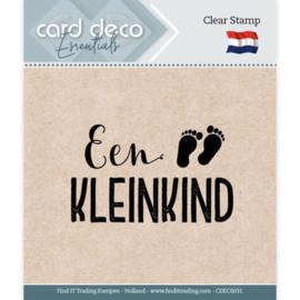 Card deco - stempel - een kleinkind - CDEC S031