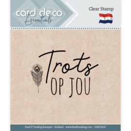 Card deco - stempel - trots op jou - CDEC S035