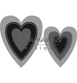 CR1461 Marianne Design Craftable Nest die hearts (M)