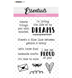 Studio Light-  clearstamp- Essentials -  tekst ENG dreams 520 - STAMPSL520