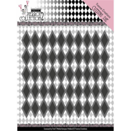 YCD10161 Dies - Yvonne Creations- Pretty Pierrot 2 - Diamond Pattern