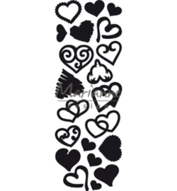 CR1460 Marianne Design Craftable Punch die Sweet Hearts