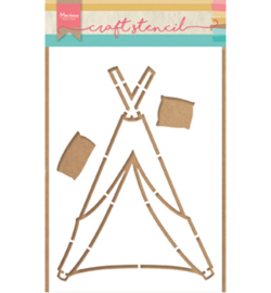 PS8021 Craft stencils: Tipi by Marleen