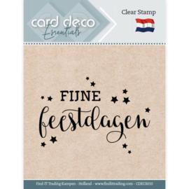 Card deco - stempel - fijne feestdagen- CDEC S010