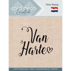 Card deco - stempel - van harte - CDECS018