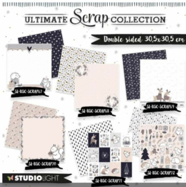 Scrap papier - Christmas collection - 6 vellen