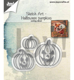 Joy! Crafts - Snijmal - Sketch Art - Pompoenen - 6002/1341