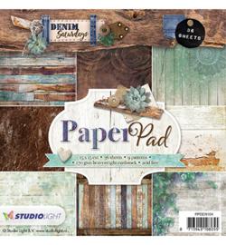 Studio Light Paper Pad 15 x 15 cm, Denim Saturdays nr.104