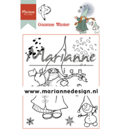 Marianne Design - Clear Stamp - Hetty's Gnomes winter - HT1648