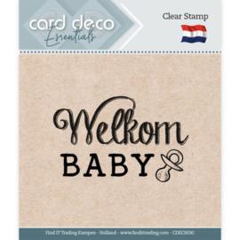 Card deco - stempel - welkom baby - CDEC S030