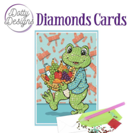Diamonds Cards - Dotty Designs - Get well frog - DDDC1008