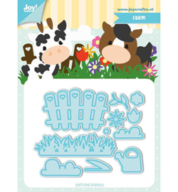 Joy!Crafts 6002/1193 Snij-stencils - Tumble Friends - Farm