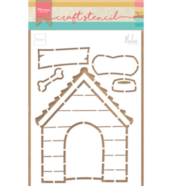 Marianne Design-Craft stencils Doghouse by Marleen-PS8030