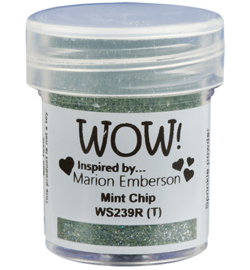 Wow! - embossingpoeder - mint chip - WS239R