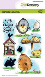 CraftEmotions - clearstamps A6 - Chicken 1 Carla Creaties - 130501/1666