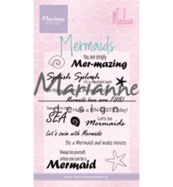 Marianne Design-Clear Stamp-Mermaid sentiments-CS1025