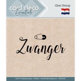 Card deco - stempel - zwanger - CDEC S032