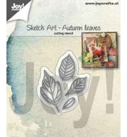 Joy! Crafts - Snijmal - Sketch Art - Herfst bladeren - 6002/1356