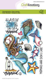 CraftEmotions- clearstamps A6 - Mermaid 1- Carla Creaties- 130501/1674