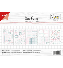 Joy!Crafts - Labelvellen/knipvel - Noor - Tea Party - 6011/0423