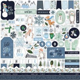 Carta Bella - element stickers  - Winter market