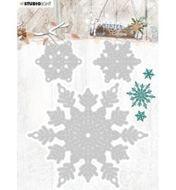 Studio Light - snij en embosmal - Winter charm - nr.324- STENCILWC324