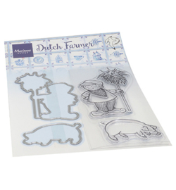 Marianne Design - Clear Stamp - Hetty's Dutch farmer - HT1653