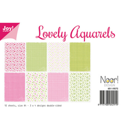 Joy!Crafts-Design Papierset -Lovely Aquarels-6011/0572