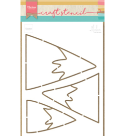 Marianne Design-Stencil Mountains-PS8045