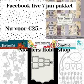Totaal pakket- Facebook live 7 januari
