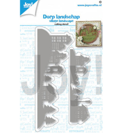Joy!Crafts - Stencil - Landschap huizen - 6002/1461