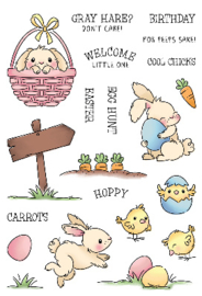 LDRS Creative - stempel - Hoppy Egg Hunt - LDRS3288