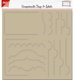 Joy!Crafts 6002/0883 Polybesa Scrapstencil - Noor - Tab-borders