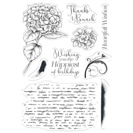 Crafter's Companion - Clearstamps - Heartfelt Wishes  - COLL-STP-HEWI