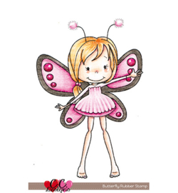 C.C. Designs, rubber stempel CCDR-0003 - Butterfly