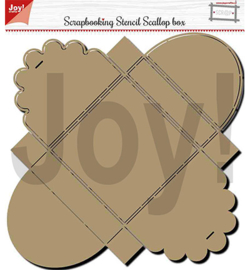 Joy!Crafts - Stencil - Scallop box - 6005/0001