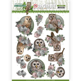 Amy Design - amazing owls - 3D push out knipvel- Romantic Owls - SB10489