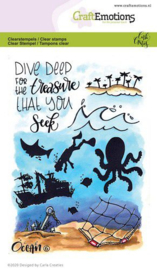 CraftEmotions - clearstamps A6 - Ocean 6 - Carla Creaties -130501/1626