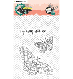 Studio Light - stempel  - Stamp, Sweet Flowers nr.437 - STAMPSFL437