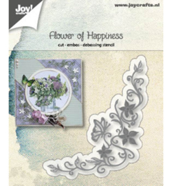 Joy!Crafts 6002/1186 Snij-embos-debosstencil - Flower of Happiness