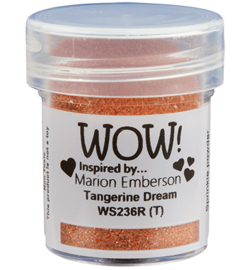 Wow! - embossingpoeder - tangerine dream - WS236R